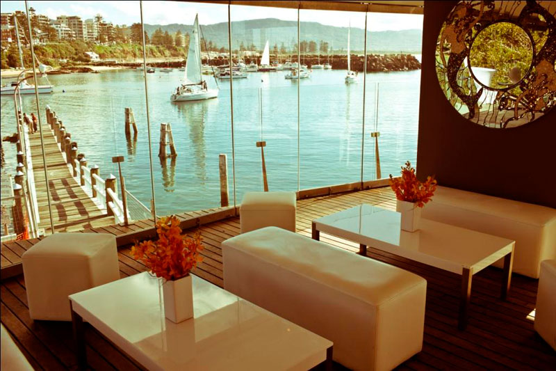 A view of the harbour from the Harbourfront Restaurant in Wollongong. Wedding venue on the NSW South Coast.