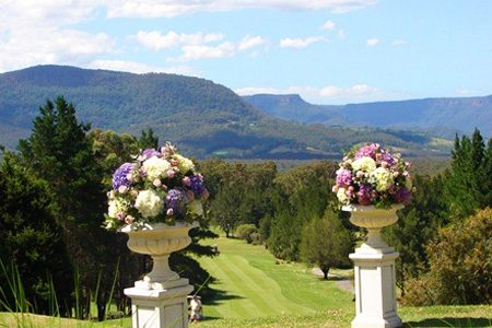 Kangaroo Valley wedding venue on the NSW South Coast the view of the mountains from the Kangaroo Valley Golf and Country Resort.