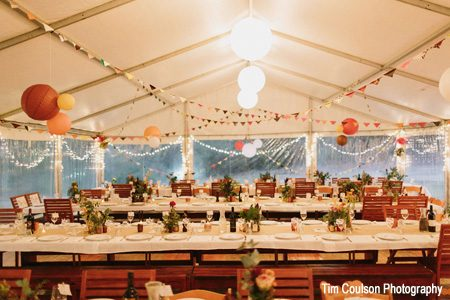 Wedding reception in marquee by Wedding and Event Creators