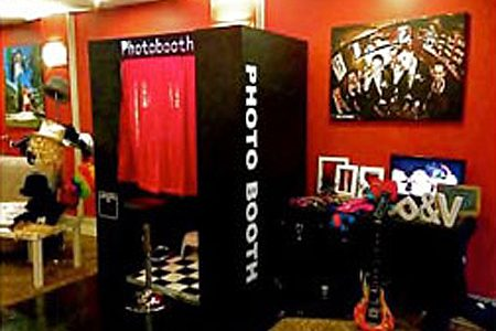 Photo booth set up by Alltime Photobooth South Coast.