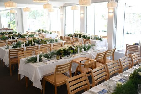 Wedding reception set up at Bannisters, Mollymook NSW.