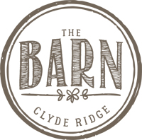 Round business logo for south coast wedding venue: The Barn At Clyde Ridge