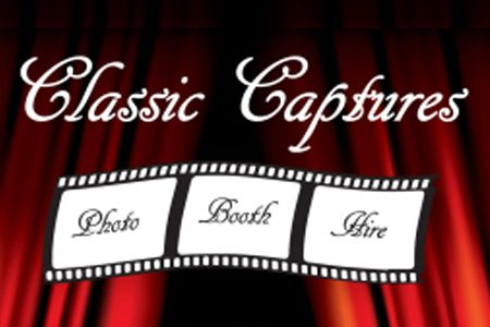 Business logo for Classic Captures Photo Booth Hire for south coast weddings.