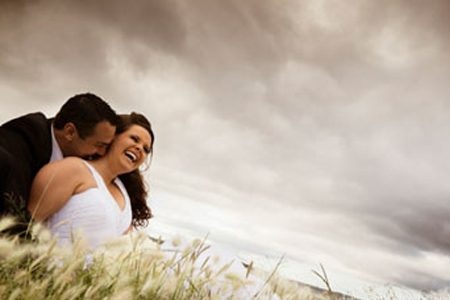Wedding photo of bride and groom by David Paillas Photography