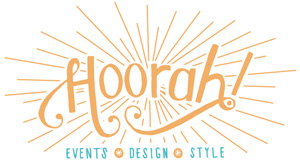 Hoorah Events wedding planning business logo.
