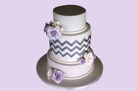 Wedding cake by Lavish Cakes south coast.