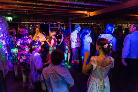 Wedding DJ services at wedding reception.