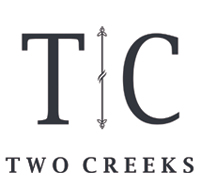 Two Creeks wedding photography logo.