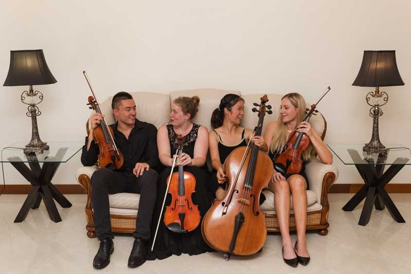 Unique Strings wedding quartet.