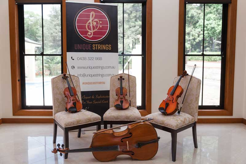 Unique Strings wedding music professionals on the South Coast.