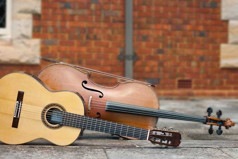 Unique Strings guitar and violin.