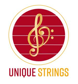 Unique Strings logo